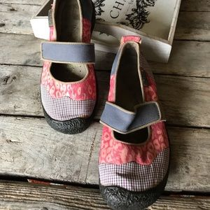 Keen Mary Janes patchwork style. GUC. Size 7